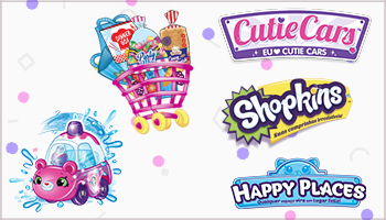 Shopkins + Cutie Cars + Happy Place