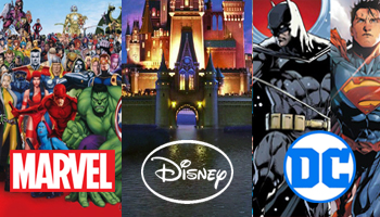 Marvel + Disney + DC